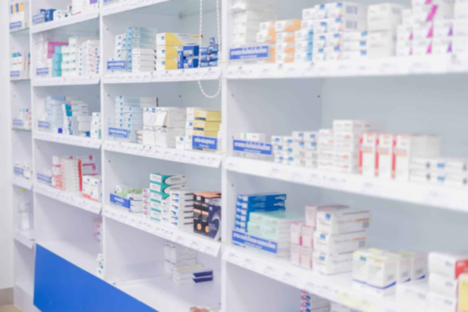 Optimale TRT Pharmacy shelves
